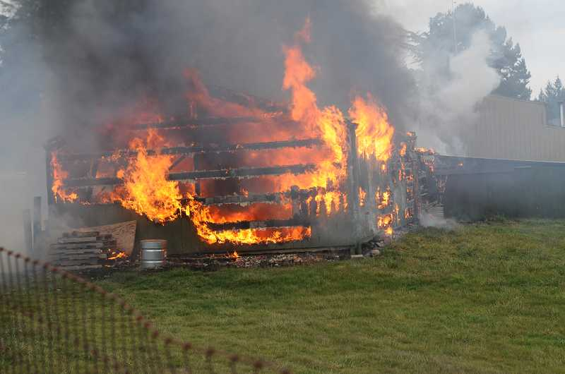 Investigators are working to determine what started a barn fire on Parrett Mountain near Sherwood on Friday. Tualatin Valley Fire & Rescue crews responded to two seperate barn fires in Sherwood last week.