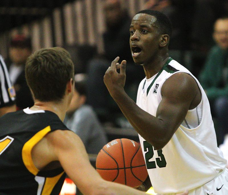 by: COURTESY OF PORTLAND STATE UNIVERSITY - DaShaun Wiggins and the Portland State Vikings play host to Portland on Saturday, then have two more games before the start of Big Sky basketball in January.
