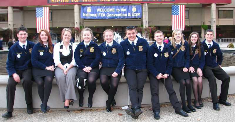 by: SUBMITTED PHOTO - North Marion and Gervais FFA students and advisers spent nine days in Kentucky and Tennessee, mainly for the National FFA Convention in Louisville, Ky., which attracted more than 60,000 students nationwide.