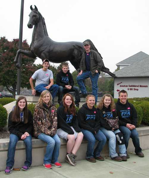 by: SUBMITTED PHOTO - The group also visited places like the Louisville Slugger museum and factory and the American Saddlebred Museum in Lexington, Ky.