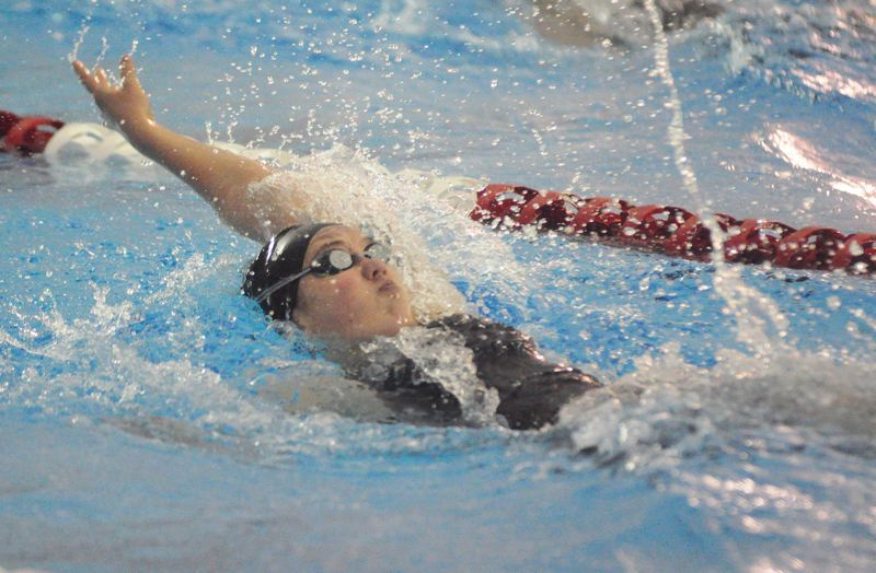 by: MATTHEW SHERMAN - Laura Laderoute took fourth place in the backstroke and the individual medley at state last year and was a part of the team's state championship medley relay as a freshman.