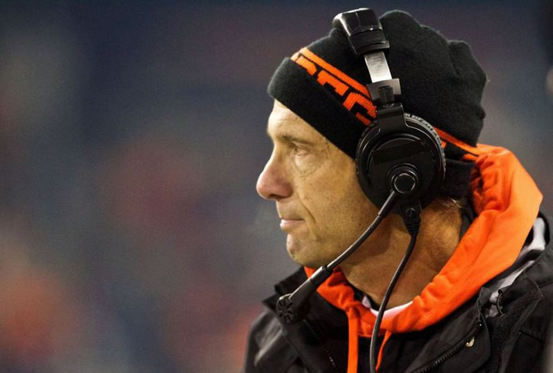 by: TRIBUNE PHOTO: JAIME VALDEZ - Mike Riley, Oregon State football coach, calls the Dec. 24 Hawaii Bowl against Boise State 'a great game for us.'