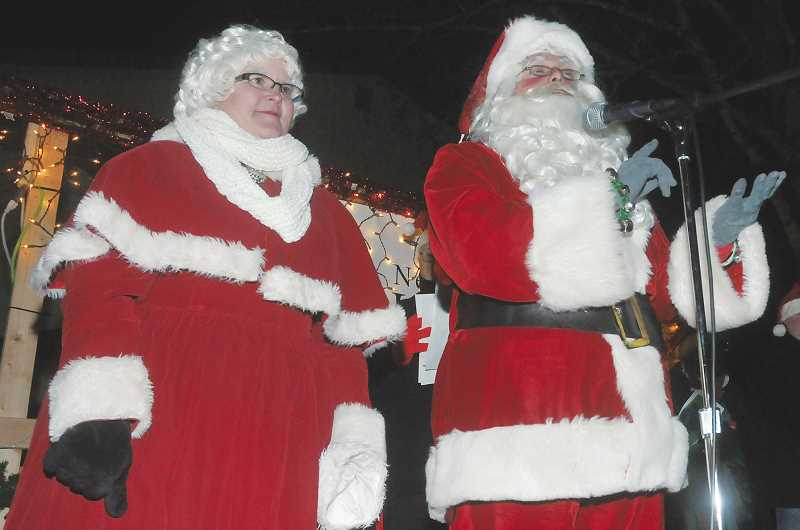 by: GARY ALLEN - Santa and Mrs. Claus