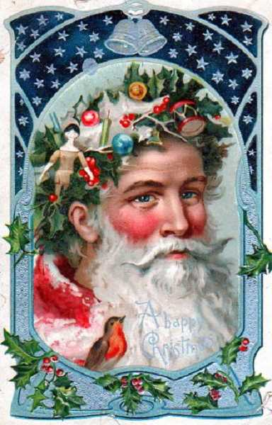 by: SUBMITTED - Santa has rosy cheeks in the Christmas postcard from 100 years ago.