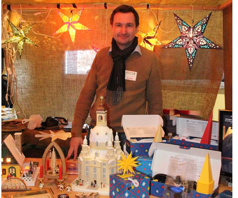 by: LINDSAY KEEFER - Mount Angel's Hazelnut Festival offered more than hazelnuts. German vendor Wieland Stumpf shared traditional holiday sweets and handmade ornaments with guests.