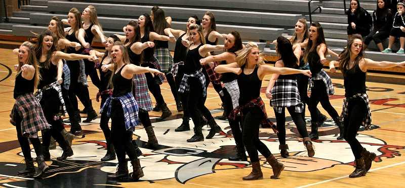 by: TIDINGS PHOTO: J. BRIAN MONIHAN - The Debs had previously placed first in kick and third and second respectively in hip-hop at both the David Douglas and Reynolds competitions.