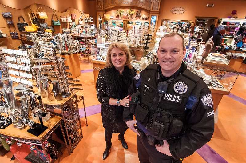 by: JOSH KULLA - Carol Winston of Accessories From the Heart knows she has a friend in Lake Oswego Police Lt. Doug Treat. Merchant vigilance and the police make the city a bad place for shoplifters during the holiday season.