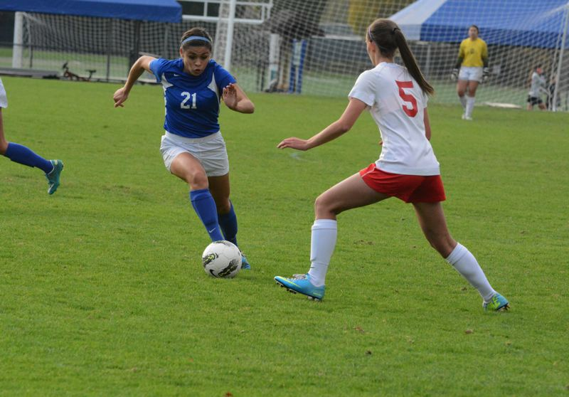 by: TIMES FILE PHOTO - Valley Catholic senior defender Makenzee Cleveland was a stalward on the back end for the Valiant defense.