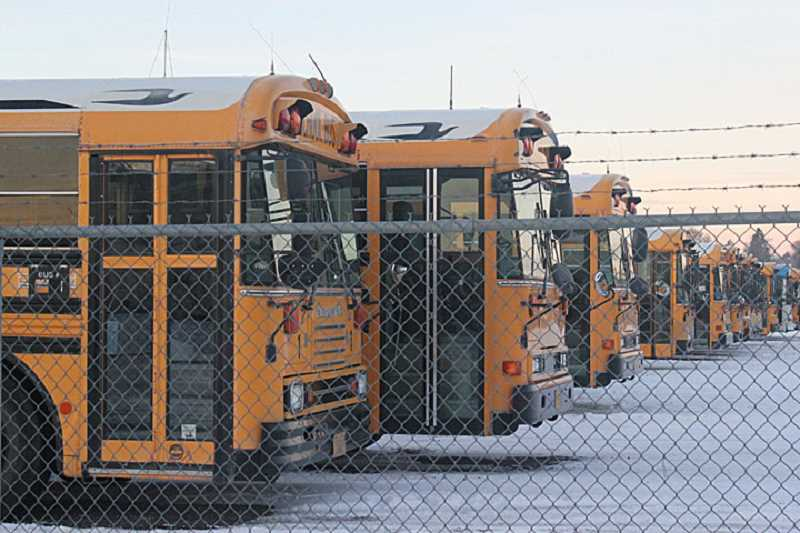 by: HOLLY M. GILL - Cold temperatures caused jelling of the diesel fuel used by school buses, and resulted in cancellation of classes on Monday and Tuesday.