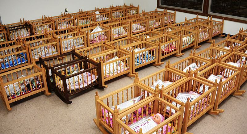 by: CONTRIBUTED PHOTO: Q MADP - These are the toy cribs crafted by the retired Boeing volunteers.