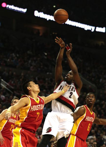 Wesley Matthews fades away for a jumper.