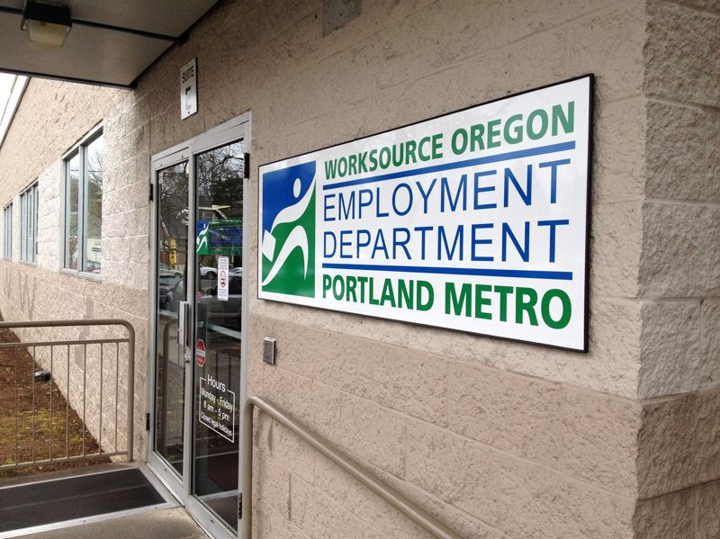 by: SLOAN CHAMBERS/OPB - Many young Oregonians find themselves at one of the branches of the Oregon Employment Department.