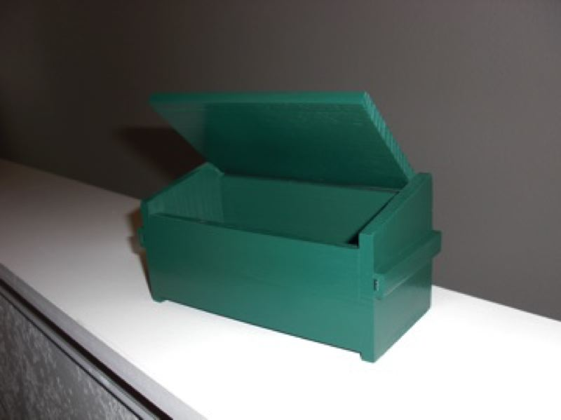 by: SUBMITTED PHOTO - Paul Ehrlich's Desktser is a pine box in the shape of the well-known garbage receptacle.