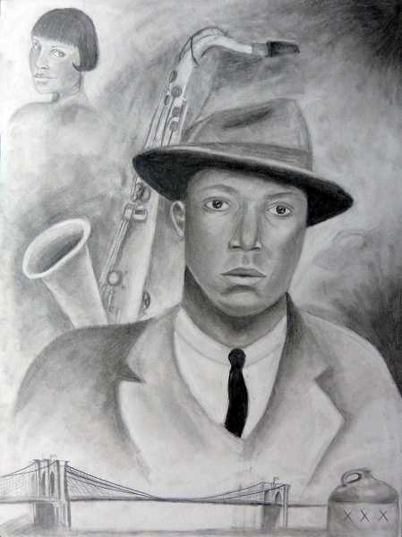 by: SUBMITTED PHOTO - Senior Megan Stites piece, Jazz, was created with graphite on illustration board.