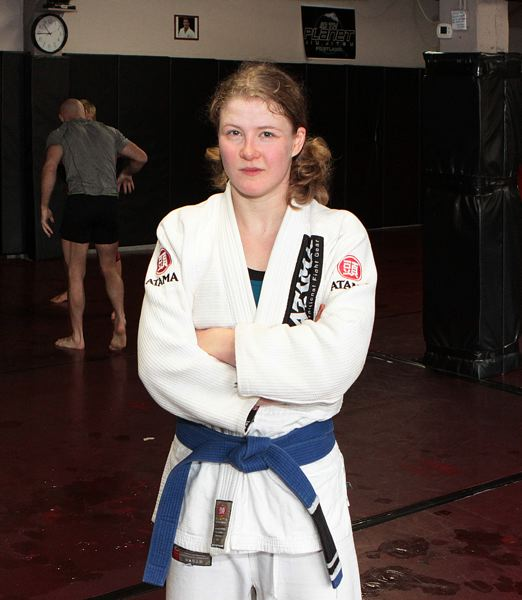 by: PAMPLIN MEDIA GROUP: DAVID F. ASHTON - Winning amateur MMA Emily Corso says a self-defense class got her into the Reed College gym.