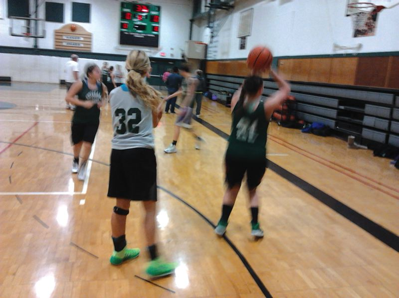 by: ESTACADA NEWS: DAVID BALL - The Estacada girls run through practice drills last week. The team is off to a 2-3 start heading into Christmas Break.