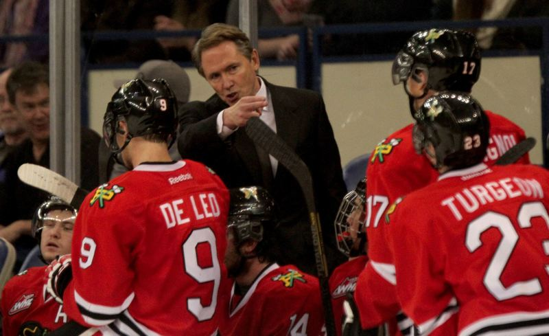 Portland coach/general manager Mike Johnston gives directions.