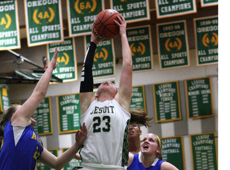 by: TIMES FILE PHOTO - Jesuit senior post Lauren Glick leads a young Crusader team looking to get to the 6A state tournament.