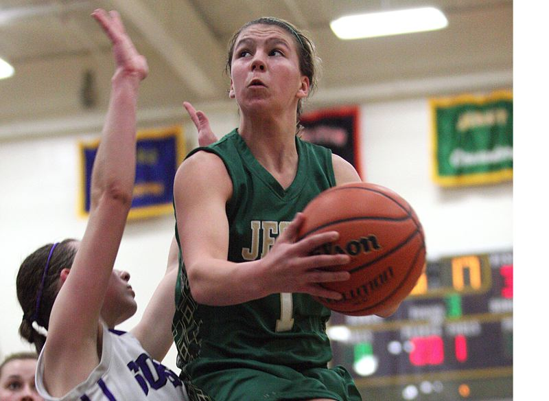 by: TIMES FILE PHOTO - Jesuit sophomore guard Kate Anderson is one of the Crusaders primary playmakers this season.