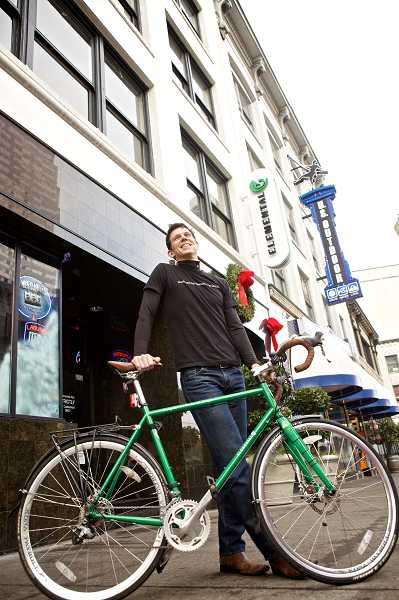 by: TIMES PHOTO: JAIME VALDEZ - Good planning and alternative transportation system are a big draw for high-tech employees, says Sam Blackman of Elemental Technologies, shown here outside the company's Portland office.