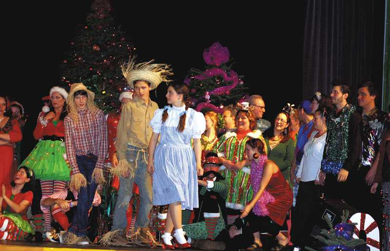 by: PEGGY SAVAGE - Dorothy and the Scarecrows trying to find her way home before Chrustmas.
