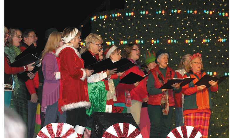 by: PEGGY SAVAGE - Molalla Community Choir sings Sleigh Ride