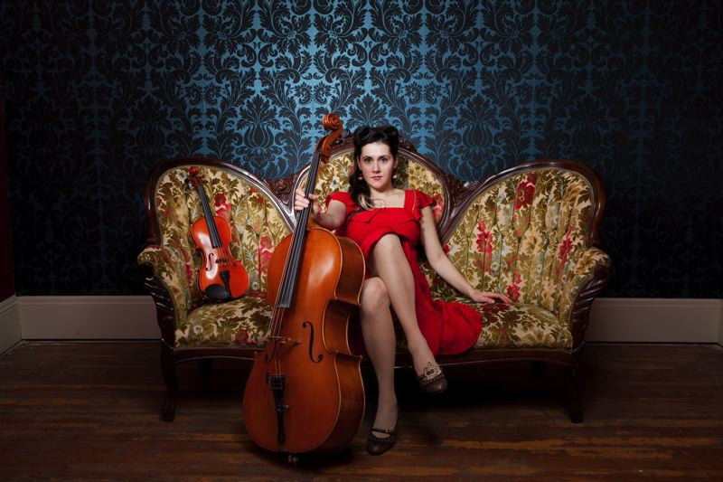 by: COURTESY OF BEN Z MUND PHOTOGRAPHY - Portlands Ashia Grzesik dazzles with her cello and alto-soprano voice, but its her self-depracating humor and personality that wow audiences.