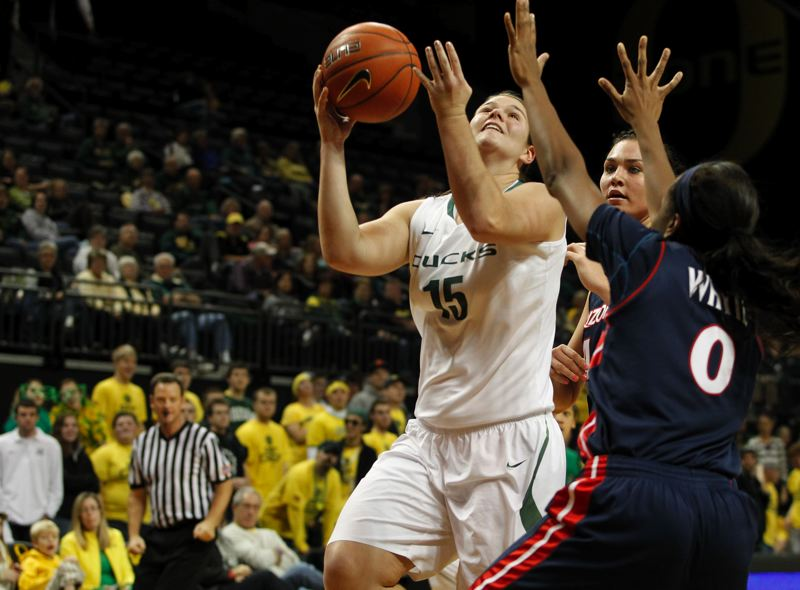 by: COURTESY OF UNIVERSITY OF OREGON - Liz Brenner's second basketball game this season for the Oregon Ducks will be Friday.