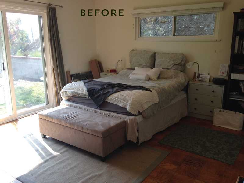 by: SUBMITTED PHOTO - This is what a master bedroom looked like before receiving a facelift courtesy of Emily Henderson, a Lakeridge High School alum.