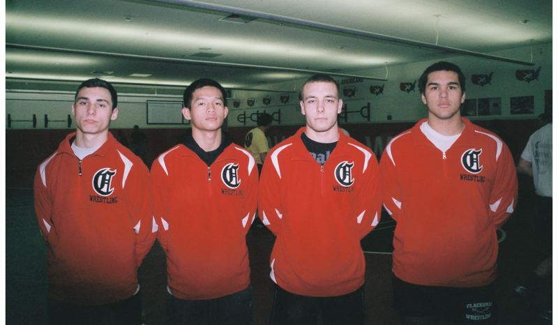 by: JOHN DENNY - With regional runners-up (left to right) Austin Brittle, Johnny Nguyen, Brad Pfeifer and Kyle Anderegg returning, the Clackamas Cavaliers like their chances in Three Rivers League and TRL/Mt Hood Region wrestling this winter.