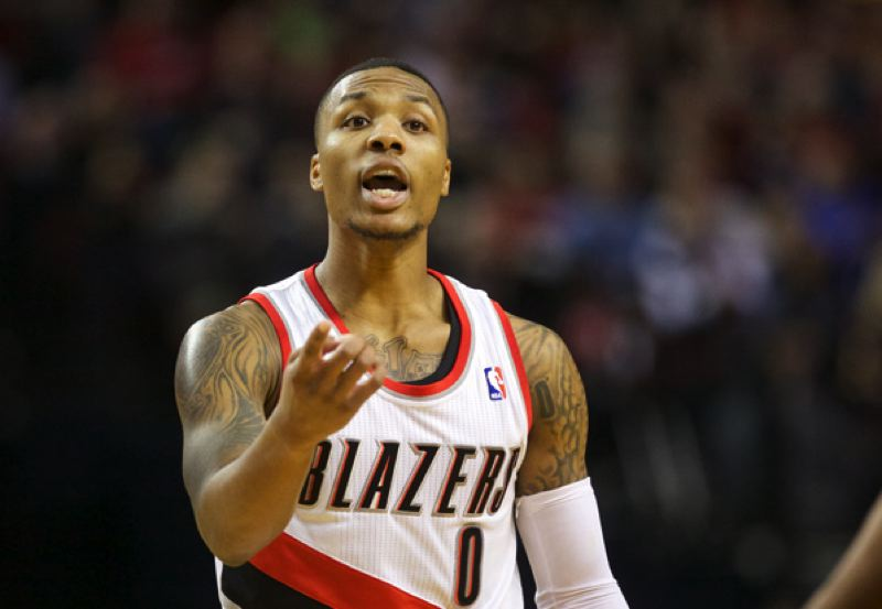 by: TRIBUNE FILE PHOTO: JAIME VALDEZ - Point guard Damian Lillard came on strong at the end, again, as the Trail Blazers won a close game, again.