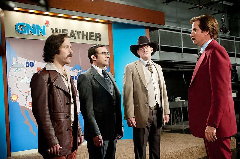 by: PHOTO COURTESY OF PARAMOUNT PICTURES - Wacky quartet -- The cast of the first movie -- Paul Rudd, Steve Carell, David Koechner and Will Farrell -- return for 'Anchorman 2.'
