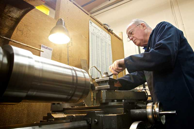by: TIMES PHOTO: JAIME VALDEZ - Frank Emmert, owner of Emmert Fabricators in Tigard, has been in business for more than three decades. In that time, he's never had an assignment as unique as Cinetopia's tree, he said.