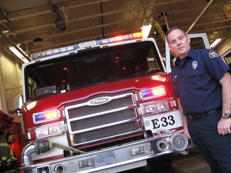 by: RAY PITZ - Capt. Dan Atkisson is retiring after 43 years as a firefighter; the last 15 spent at Sherwood Station No. 33.