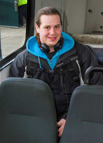 Sean Nelson, of Canby, was the 2 millionth rider for Canby Area Transit.