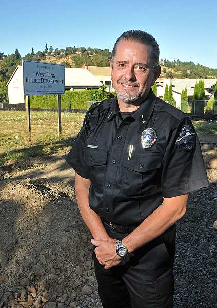 by: VERN UYETAKE - West Linn Police Chief Terry Timeus said the Sept. 9 groundbreaking of the new police station was exciting and a lot of people worked a lot of hours on this, and if it wasn't for every one of those people, it wouldn't have happened.