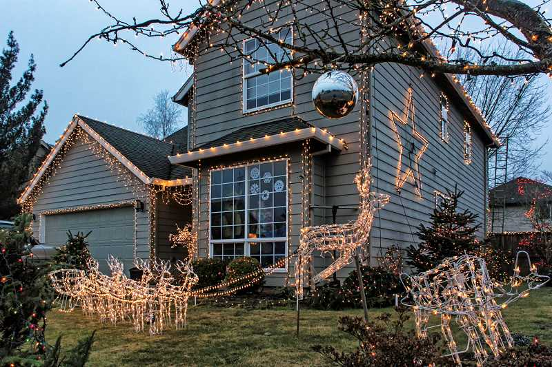 by: RAY HUGHEY - This year's Canby Community Holiday Lighting Contest winner is located on Ninth Avenue.