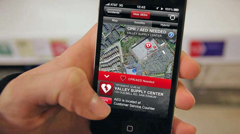 by: COURTESY OF PULSEPOINT - Portland Fire & Rescue wants to spend about $108,000 to train citizens in the CPR and to buy the smartphone app PulsePoint, which notifies volunteers that a cardiac arrest has occurred near them, and alerts them to the nearest defibrillator.