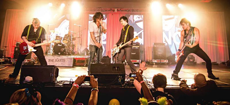 by: PHOTO COURTESY OF TOMMY BYRD - In 2014, bass players will be considered cool, according to Simon Tam (third from the left), who, by the way, plays bass for Portlands rock band The Slants.