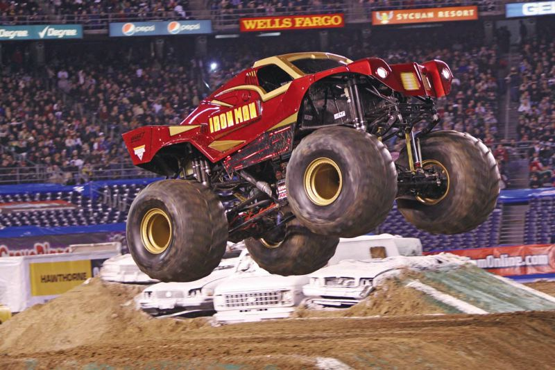 by: COURTESY OF MONSTER JAM - Max D plus Iron Man is one of eight monster trucks that will appear in Portland at the popular Monster Jam in February. Tickets are on sale.