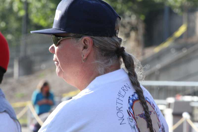 by: SUBMITTED PHOTO - The late Lee Sorrelhorse supported his son at athletic events.