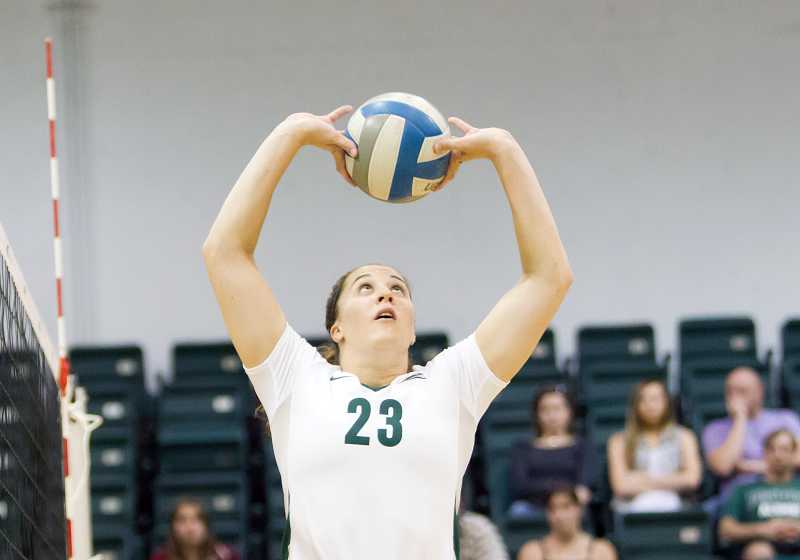by: LARRY LAWSON / PORTLAND STATE ATHLETICS - Canby alumna Garyn Schlatter racked up 1,219 assists in her final season with the Portland State volleyball team.