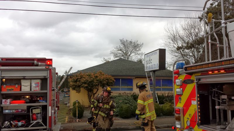 by: TUALATIN VALLEY FIRE & RESCUE - Firefighters managed to extinguish a fire within minutes that was reported on Friday afternoon at the Beaverton Jade Sauna on Southwest 110th Avenue.