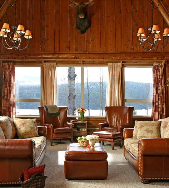by: SUBMITTED PHOTO - This superbly furnished room with a marvelous view at the Silvertip Club combines a unique combination for members.