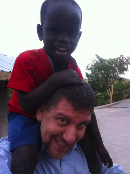 by: FILE PHOTO - Reynaldo and Jeremy Ferguson on his previous trip to Haiti.