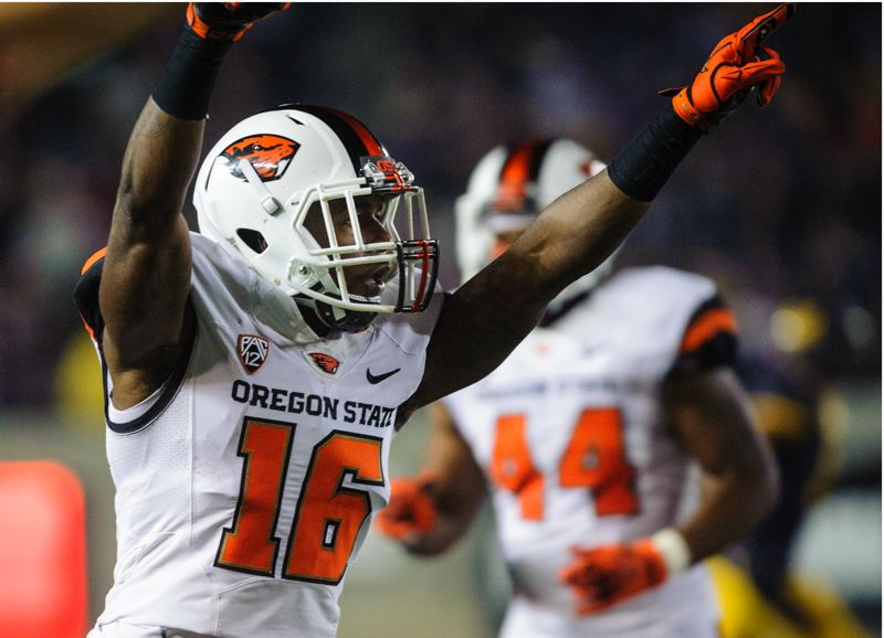 by: COURTESY OF KARL MAASDAM - Oregon State defensive back Rashaad Reynolds has been named to play in the annual East-West Game.
