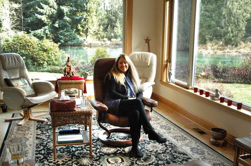 Photo Credit: ISABEL GAUTSCHI - Crop offers counseling sessions from her home in the Hidden Lake Retreat lodge.