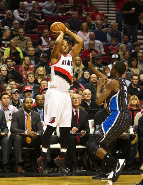 CJ McCollum was 2 for 5 from the field and 0 of 2 from 3-point range, scoring 4 points in 14 minutes of his first NBA game.