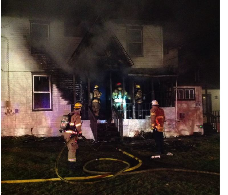 by: FOREST GROVE FIRE DEPARTMENT - Three people were injured in a two-alarm fire early Friday morning in Forest Grove.