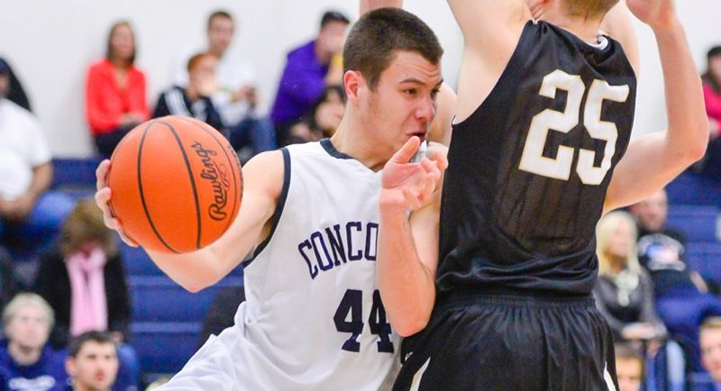 by: COURTESY OF CONCORDIA UNIVERSITY - Senior forward Adam Herman has become Concordia's all-time leading men's basketball scorer.